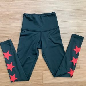 STRUT THIS red star high waist legging